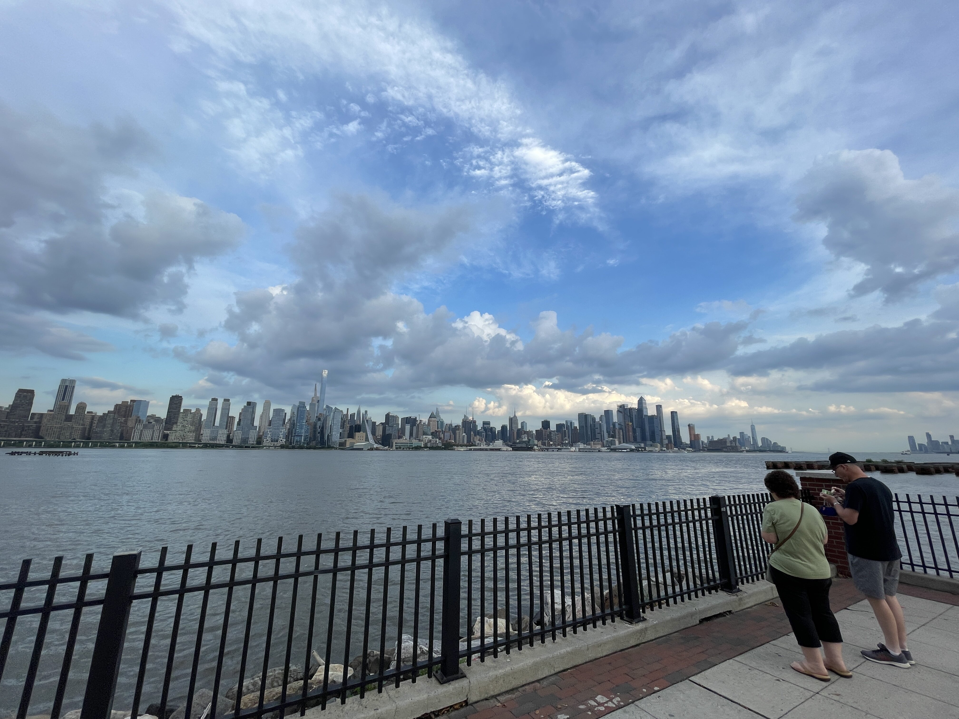 Dark clouds appear over New York following Tropical Storm Elsa