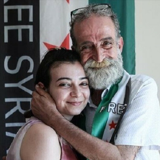 Syrian father, daughter reunite in Turkey after 12 years