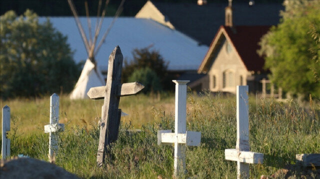 A view cemetery in Cranbook, British Columbia on June 30, 2021 ( Dave Chidley - Anadolu Agency )