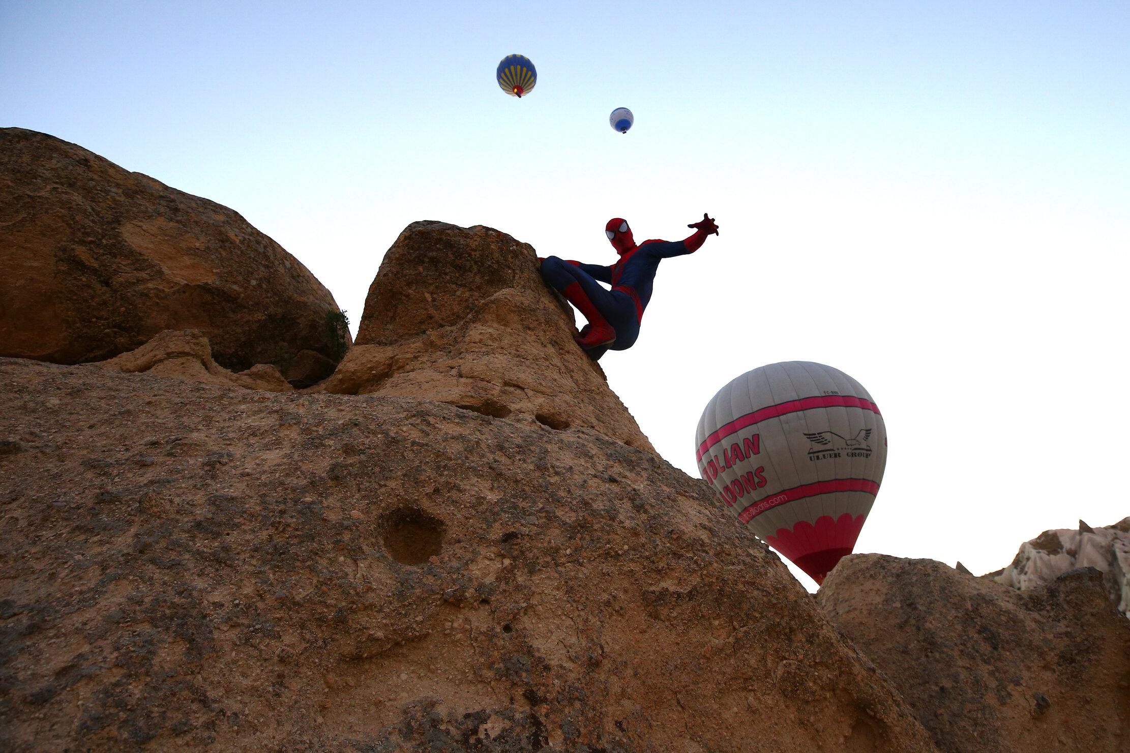 Turkish 'Spider-Man' on duty in Turkey's Cappadocia