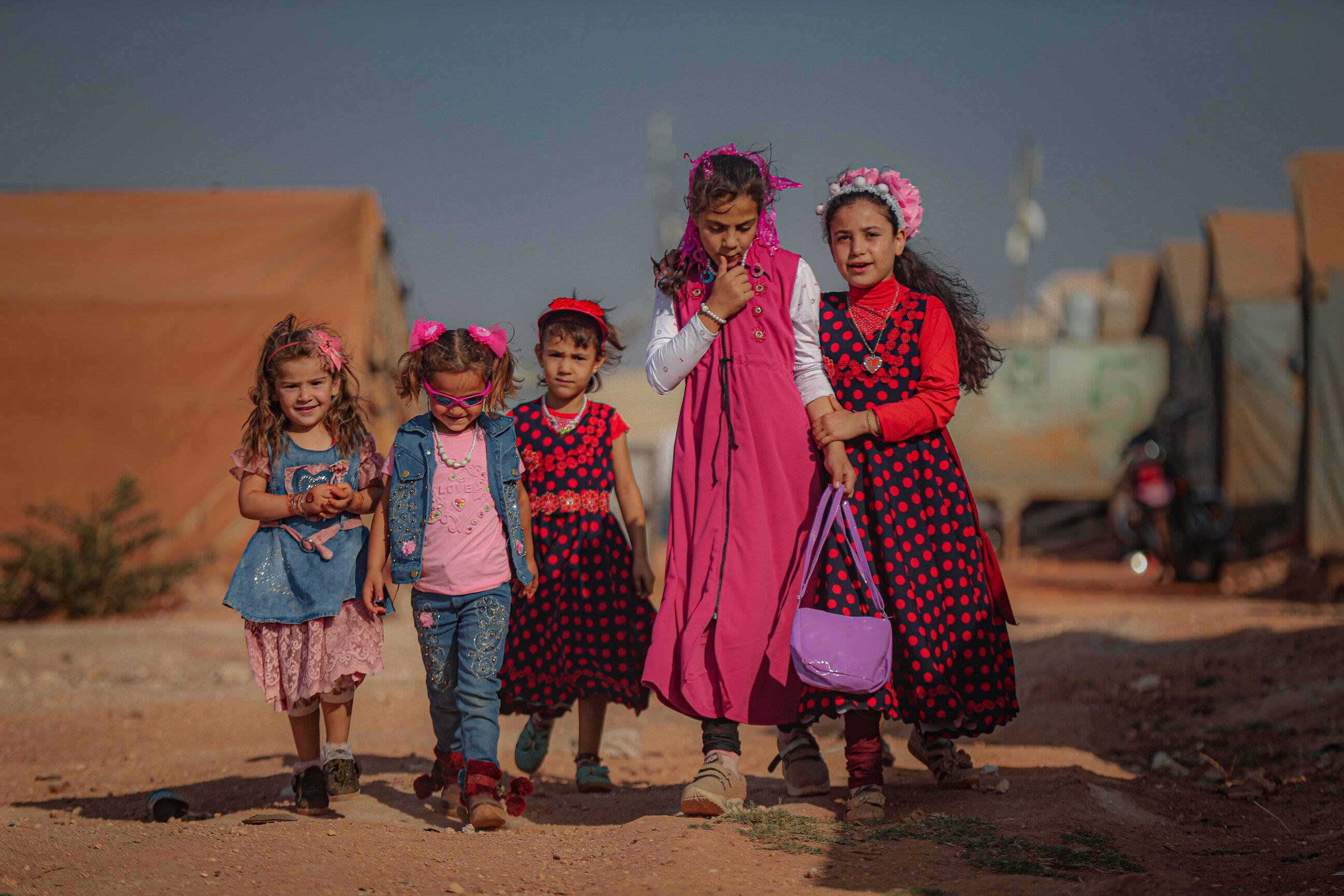 Syrian children celebrate Eid al-Adha in Idlib