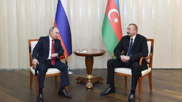 Russian President Vladimir Putin - Azerbaijani President Ilham Aliyev