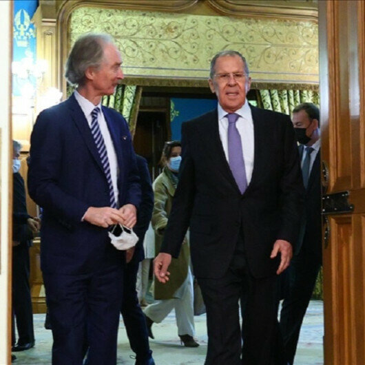 Russian foreign minister, UN special envoy for Syria meet in Moscow