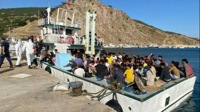 Over 230 irregular migrants held in western Turkey