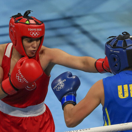 Turkish female boxer reaches semi-finals at Tokyo Olympics
