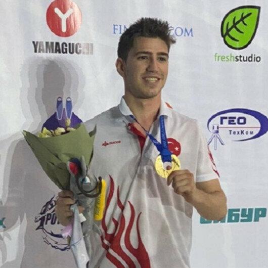 Turkish swimmer wins historic gold at world championships