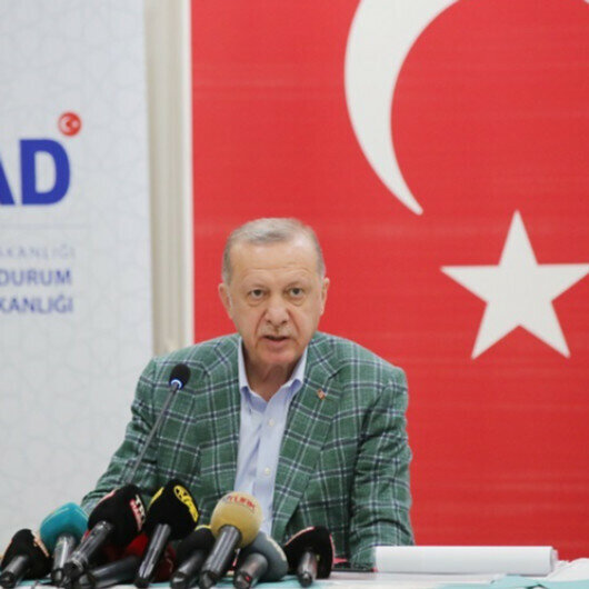 Erdogan visits areas affected by massive forest fires