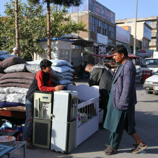 People selling household items amid rising poverty in Afghanistan