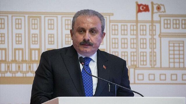 Turkey's parliament speaker Mustafa Sentop