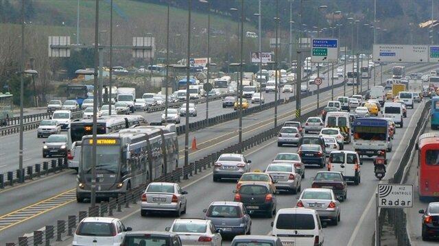 Trafikte 19 milyon araç