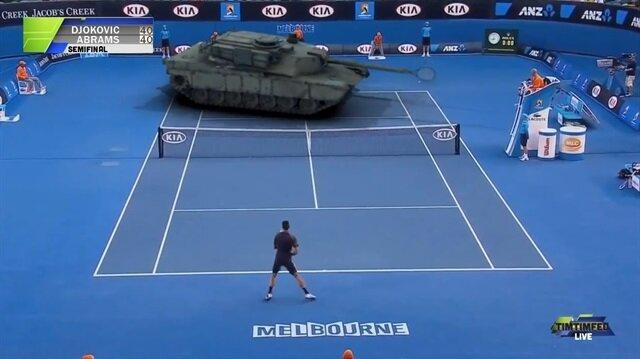 Djokovic tank ile maç yaparsa...