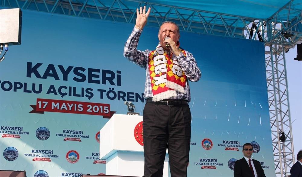 Erdoğan'a Kayseri'de sürpriz pankart