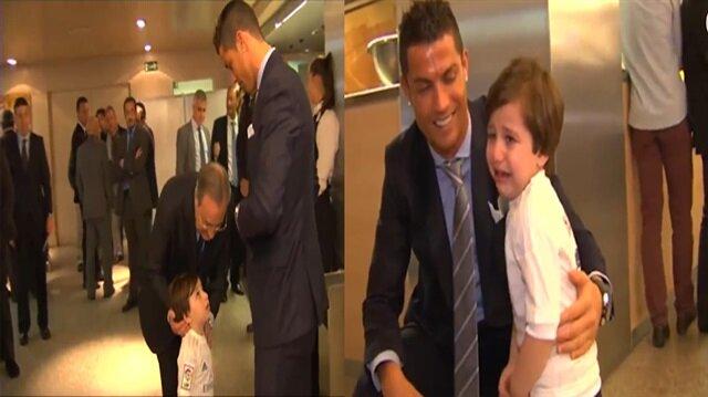 Ronaldo Filistinli Haydar ile buluştu