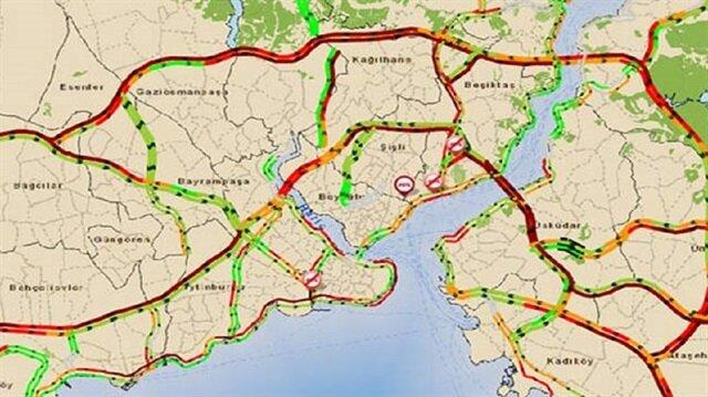İstanbul'da trafik kilit