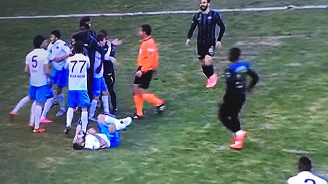 Trabzon maçında saha karıştı