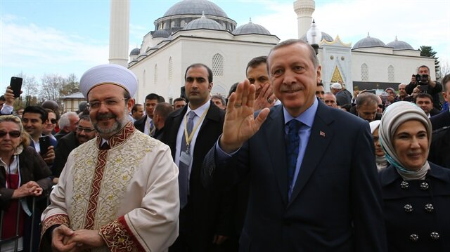 President Erdoğan recited the Quran at the opening of the Diyanet Center of America