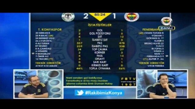 Konyaspor golünde FBTV buz kesti