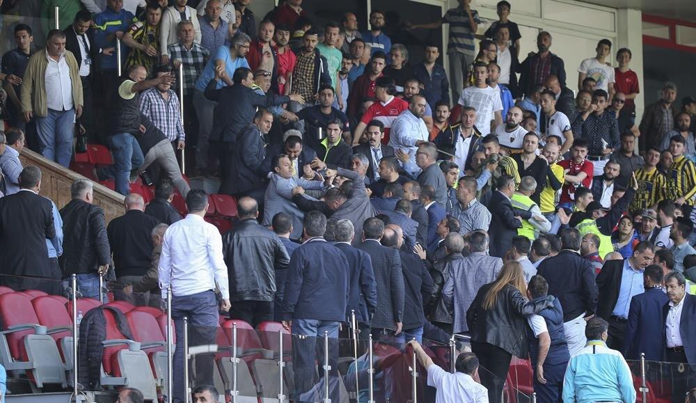 MKE Ankaragücü Kulübü Başkanı Mehmet Yiğiner,  Amed Sportif Faaliyetler ile yapılan maçta çıkan olayların kendilerini de üzdüğünü söyledi.