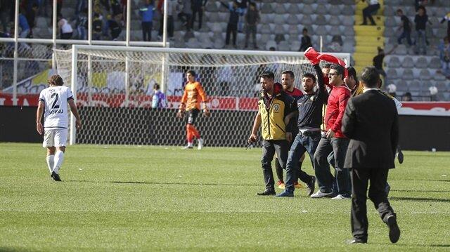 Ankaragücü-Amed maçında çıkan olaylarla ilgili 5 kişi gözaltına alındı.