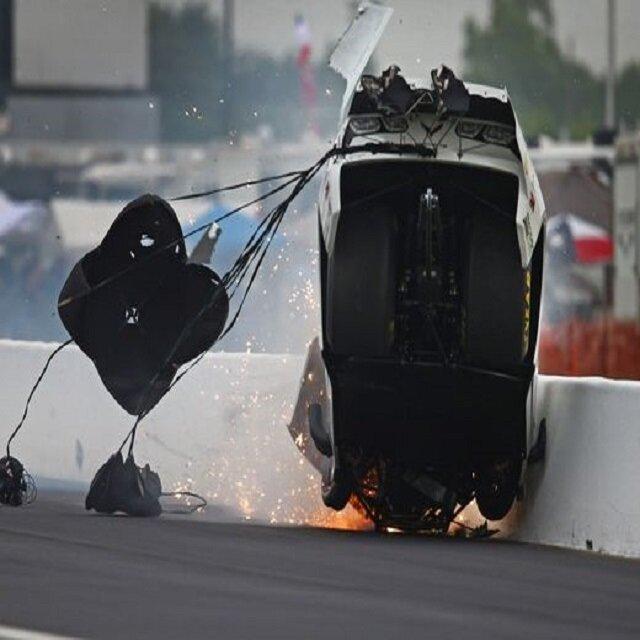 Drag yarışında feci kaza