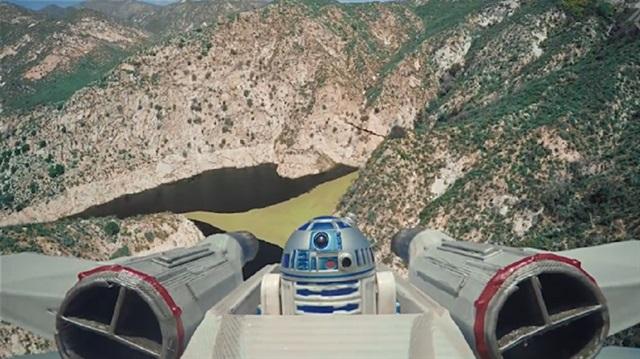 Dronelarla Star Wars sahnelerini canlardırdılar