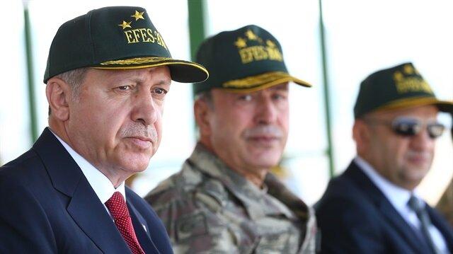 Başkomutan Efes-2016 tatbikatını izliyor