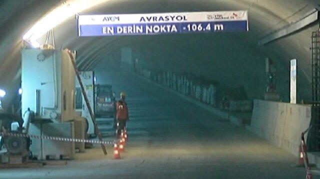 Avrasya Tüneli Projesi ilk kez havadan görüntülendi