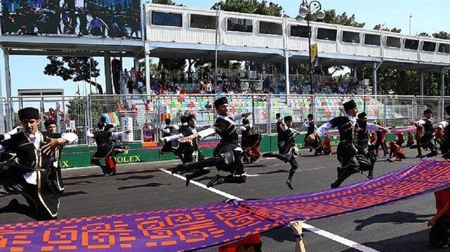 Azerbaycan Grand Prix'sinin, resmi açılış töreni yapıldı.
