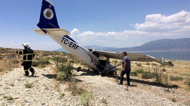 Burdur'da eğitim uçağı zorunlu iniş yaptı.
