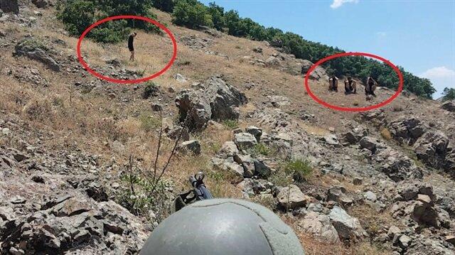 Terör örgütü PKK'ya yönelik operasyonların devam ettiği Lice'de 6 terörist teslim oldu.