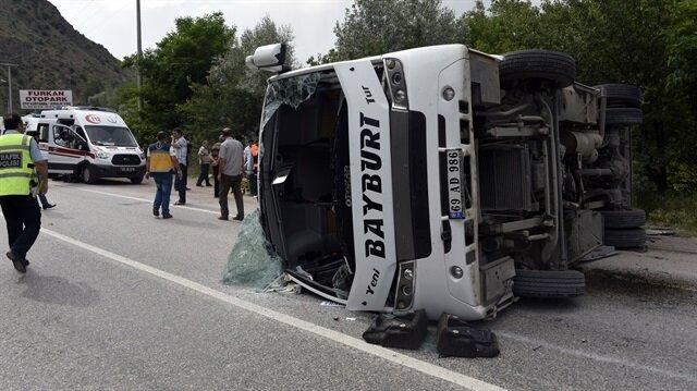 Gümüşhane'de kaza: 20 yaralı