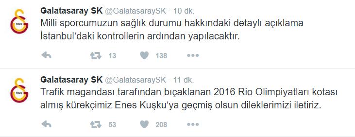 Galatasaray'ın Enes ile ilgili açıklaması.