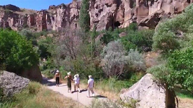 Ihlara Vadisi'ne yerli ve yabancı turist akını!