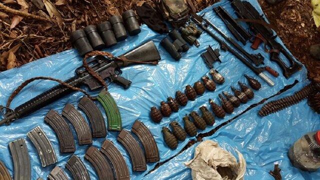 PKK'nın mühimmat deposu ele geçirildi