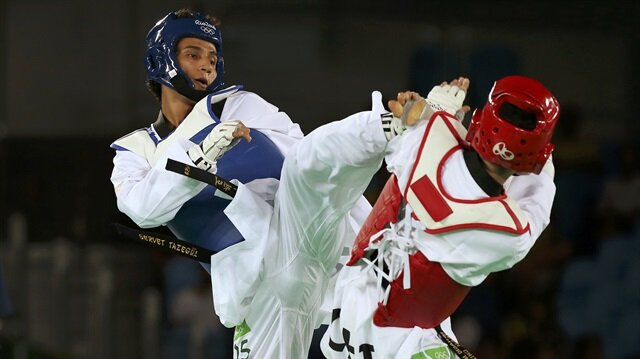 Tekvandoda erkekler 68 kiloda çeyrek final müsabakasına çıkan milli sporcu Servet Tazegül, Rus rakibi Denisenko'ya yenildi.
