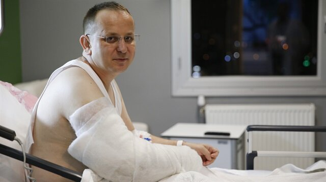 15 Temmuz gazisi Sabri Ünal, 20 Temmuz günü tedavi gördüğü hastanede başından geçenleri anlatmıştı.