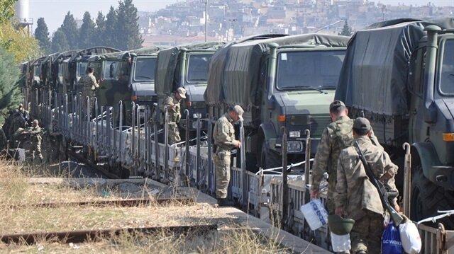 Askeri konvoy Gaziantep'te