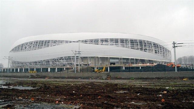 Samsunspor'un maçlarına ev sahipliği yapacak olan stadyumun yeni yılda açılması bekleniyor.