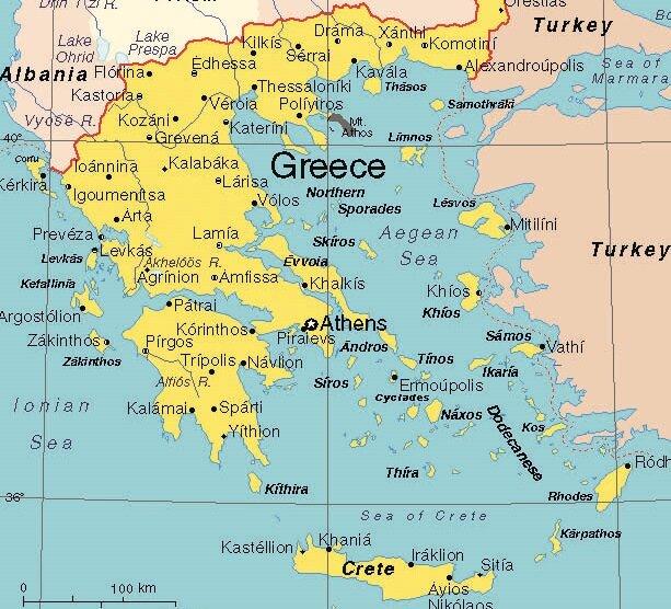 Bu haritadaki adaları gören birinin sağdaki devletin (Türkiye) soldaki devleti (Yunanistan) denize döktüğüne inanması için ahmak olması gerekir.