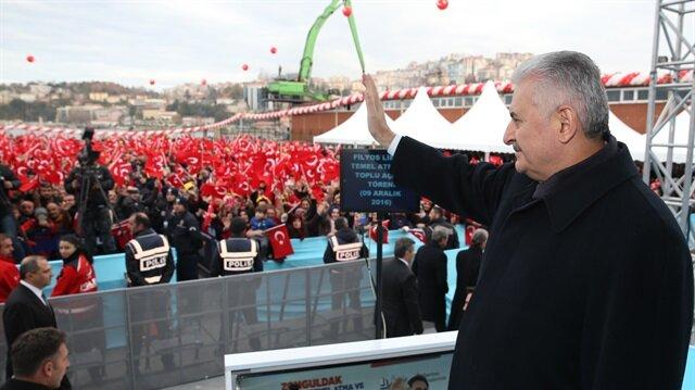 Başbakan Binali Yıldırım, Zonguldak'ta Filyos Limanı temel atma töreninde konuştu.