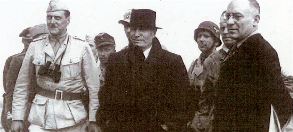 Skorzeny'nin haklı gururu Kurtardığı Mussolini ile dağ otelinden ayrılan Otto Skorzeny'nin yüzünde, görevini başarıyla yerine getirmenin gururu okunuyor.