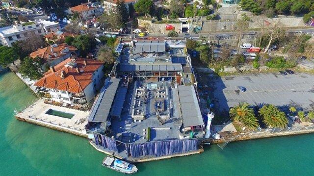 Aerial view of Reina Nightclub