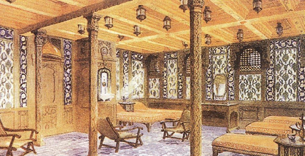 Buram buram Osmanlı kokuyor Doğu mimarisinden detaylar taşıyan Türk hamamının Türk mimar ve mühendisler tarafından dizayn edildiği biliniyor. Bu iki karede bile Osmanlı kokusunu içimize çekebiliyoruz.