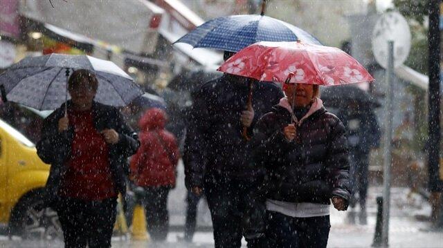 Meteoroloji bazı bölgelere ve illere sağanak yağış uyarısında bulundu.