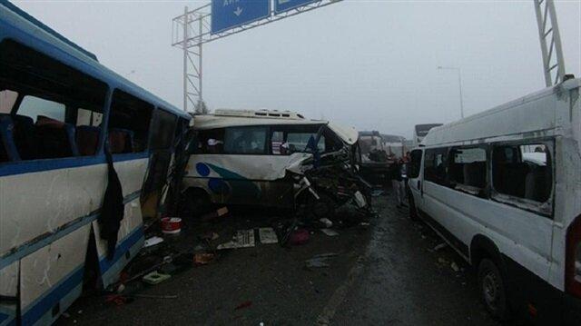 40-vehicle pileup in Turkey