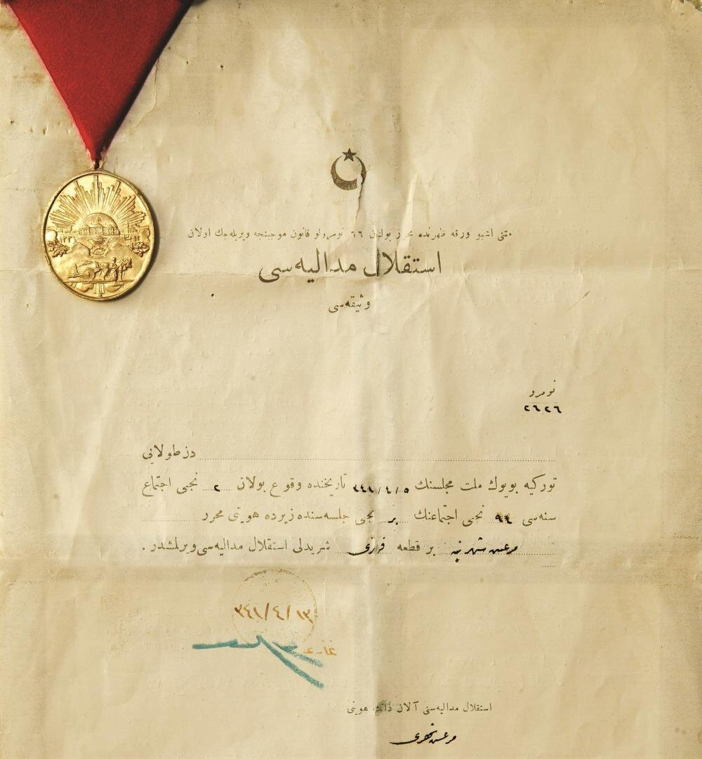 İstiklal Madalyası Beratı