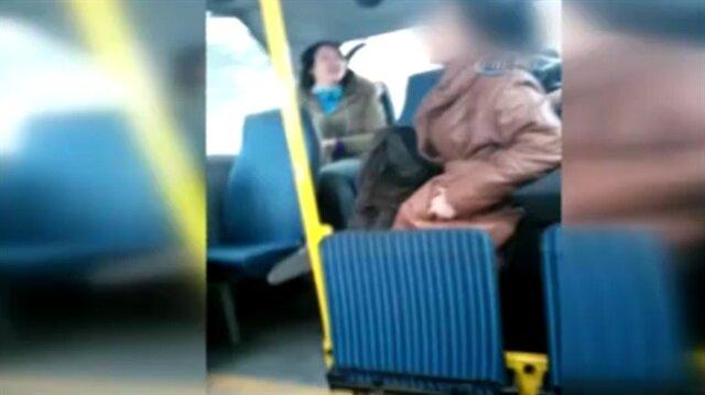 Başörtülü genç kıza minibüste saldıran kadın tutuklandı