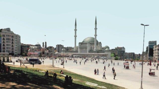 Her geçen gün nüfusu artan Taksim'de cuma vakti namaz kılınacak yer bulunamıyor. 2018'de tamamlanması planlanan cami, aynı anda 960 kişiye ibadet imkanı sunacak.