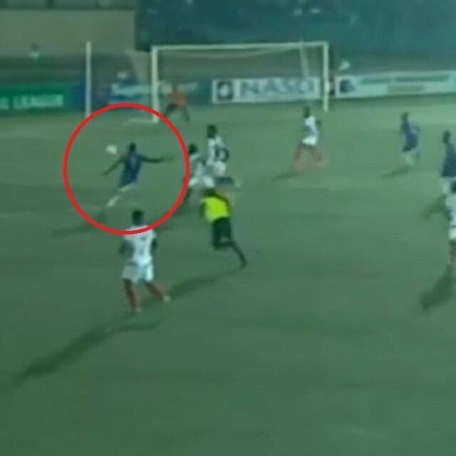 Nijerya Ligi'nde müthiş gol