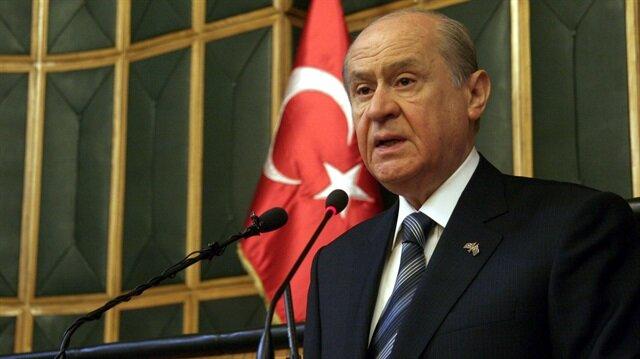 MHP Genel Başkanı Devlet Bahçeli.